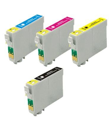 4 Pack Ink Cartridges for Stylus NX330, NX430, WorkForce 435, 520, 545, 630, 633, 635, 645, 840, 845, 60, 7010, 7510 (T126- BK, C, M, Y)
