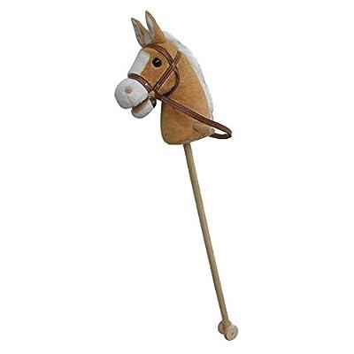 """'Goldy Cheval """"My Tonnerre, Super d'or, Sweety Toys, Couleur Beige–Très Douce de inoxydable avec crinière blanche avec fonction. Appuyez sur oreille, et chevaux au galop gewieher Wok, dime"""