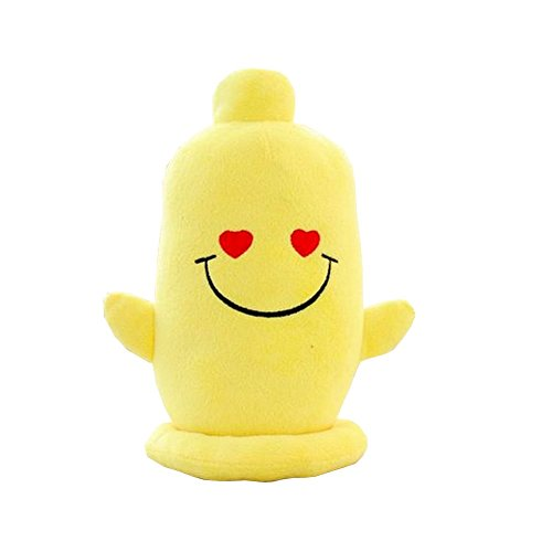 Creative Lovely Face Expression Throw Pillow Condom Shape Plush Toy Nice (Shape Condoms)