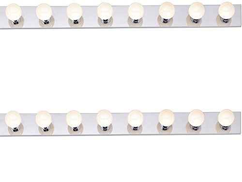 (Six Light Vanity Strip, Polished Chrome, 36-Inch - 2 Pack)
