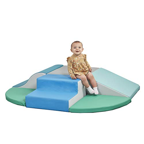 ECR4Kids SoftZone Little Me Foam Wall Climber - Indoor Active Play Structure for Toddlers and Kids - Soft Foam Play Set, Contemporary