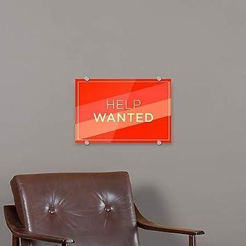 36x24 CGSignLab Modern Diagonal Premium Brushed Aluminum Sign Help Wanted