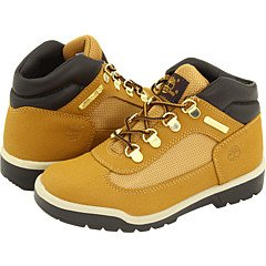 (Timberland Boys' Field Boot Leather Boots,Wheat Scuffproof,2.5 M US)