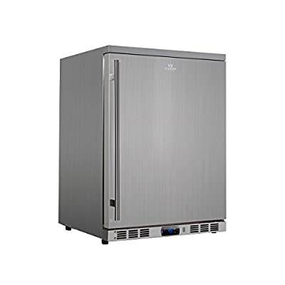 KingsBottle 140 Can Outdoor Beverage Cooler, Solid Stainless Steel Door