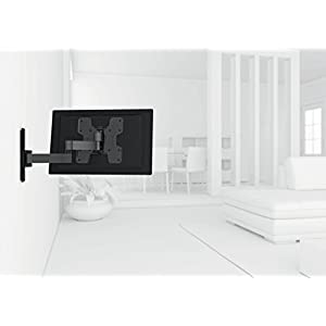 Vogel's TV Wall Mount 180° Articulating Swivel and Tilt - WALL series, WALL 2145B Wall Mount for 19 to 40 inch TV, Black