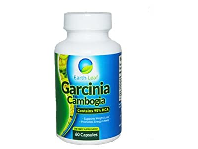 Earth Leaf Garcinia Cambogia- 60% HCA- Supports Weight Loss- Promotes Energy Levels- Carb Blocker and Natural Appetite Suppressant- Burn Fat Safely