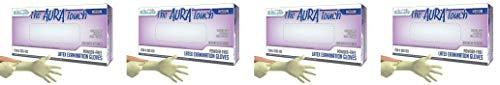 DDS Aura Touch Powder Free Latex Exam Examination Gloves, Natural (Medium) -100/bx (4-(Pack)) by Aura (Image #1)