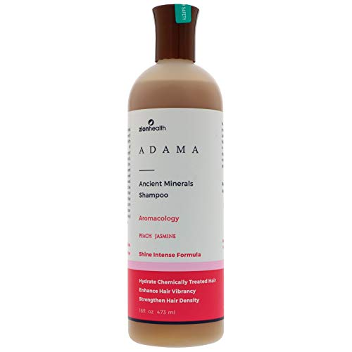 Zion Health  Adama Ancient Minerals Peach Jasmine Shampoo 16 Fluid Ounce