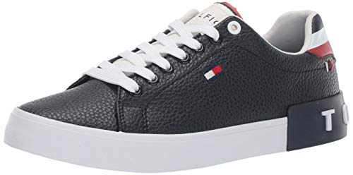 Tommy Hilfiger Men's Rezz Sneaker, Dark Blue, 11 Medium US