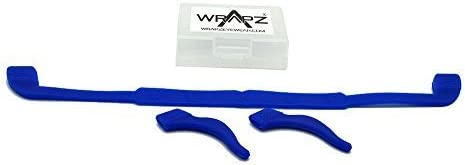 Wrapz Silicone Glasses Strap Set with Ear Hooks Holds Tight To Head Includes Box