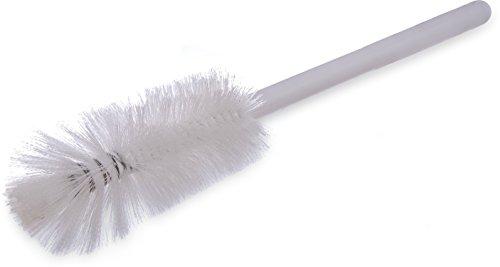 Carlisle 4046702 Sparta Handle Quart Bottle Brush, Polyester Bristles, 3'' Bristle Diameter, 16'' Overall Length, White (Pack of 12) by Carlisle