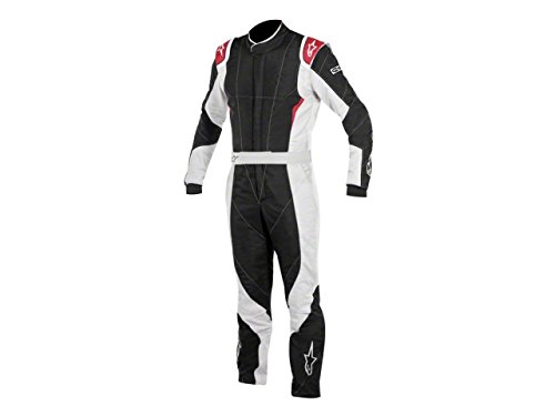 Alpinestars GP PRO Suit (Black/Steel Gray/Red, Size 46)