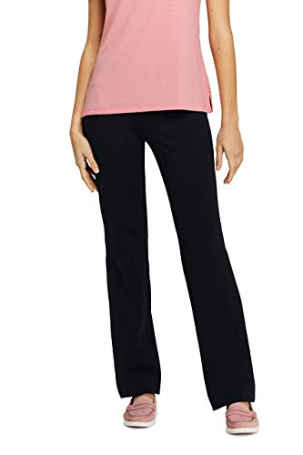 Lands' End Women's Petite Starfish Straight Leg Elastic Waist Pants Mid ()