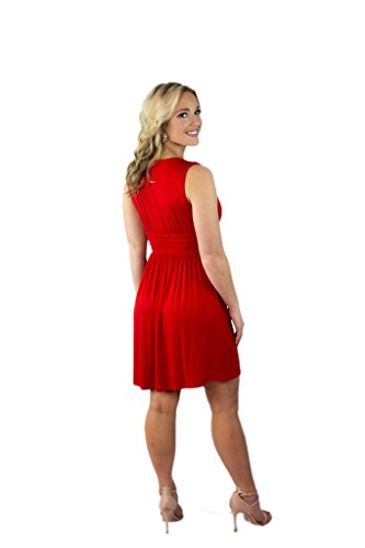 s Sleeveless Summer Charm Your Women Your Charm Prince Sundress Red xHwqvX