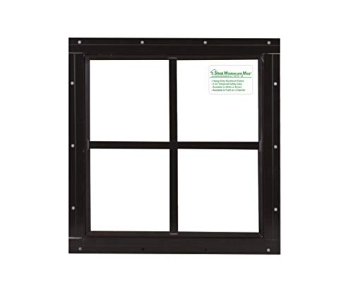 Square Shed Window 16'' X 16'' Brown Flushl, Playhouse Window by Shed Windows and More (Image #3)