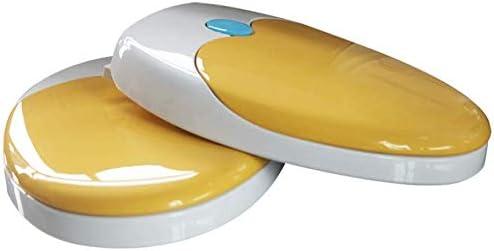 抗菌PPボード付きS-優雅な便座ファミリー便座ミュートミュート超耐性トップマウントU/V形大人の子供用トイレ蓋、オレンジ-36.7 * 46.8〜48cm
