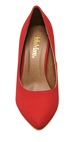 Nubuck Office Toe Pointed Ada Marie 11 Stiletto Pumps Womens Heel Bella Red Dress y4xzqOcIz