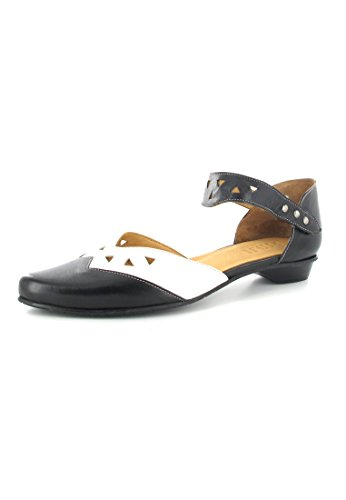 FIDJI-ballerines femme-noir-chaussures en matelas grande taille