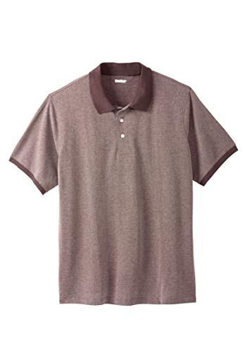 KingSize Men's Big & Tall Pique Polo Shirt, Raisin Birdseye Big-2Xl
