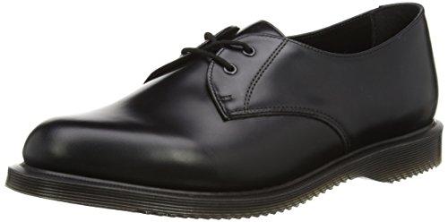 Mujer MartensBROOK Dr Zapatos Polished Schwarz Black Black Smooth Derby g11qdwY