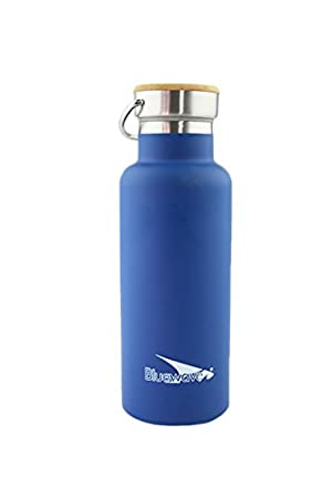 Bluewave Botella D2 (500 ml) de Doble Pared con Aislamiento - Botella de Deporte de Acero Inoxidable