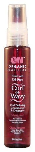On Organic Natural Curl-N-Wavy Curl Defining Conditioner & Detangler, Cherry Blossom 2 oz