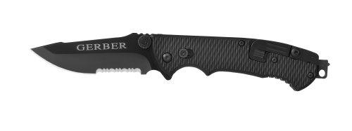 Gerber 22-01870 Hinderer Combat Life Saver Knife with Serrated Edge, Outdoor Stuffs