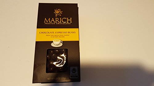 Marich Chocolates-Dark Chocolate Espresso Beans, 4.25 oz. (Espresso Chocolate Beans Marich)