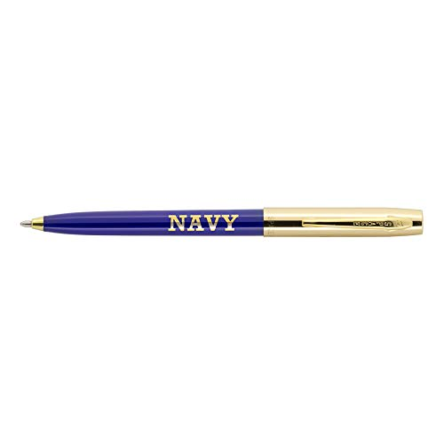 Fisher Space Pen Ballpoint Pen, Brass Cap & Blue Plastic Barrel (775G-BLUE-NAVY)
