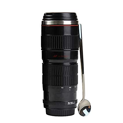 For 200mm Cup Tmangocanon Photographer 16oz SpoonPhoto Stainless Camera B Cute Coffee MugBonus Steel Thermos Travel Lens Gift 70 rhQdCxtsBo
