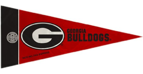 NCAA Georgia Bulldogs Mini Pennant Single Team Set (8 Piece), 4