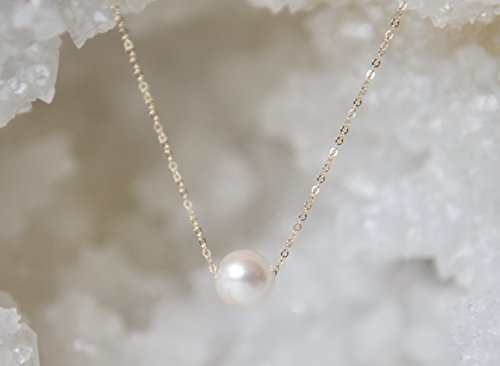White Pearl Gold Filled Necklace Modern White Mother Of Pearl