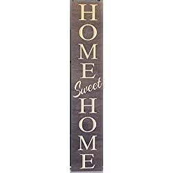 Paint Me Designs, Wooden Welcome Sign - Home Sweet Home, Vertical, Stained