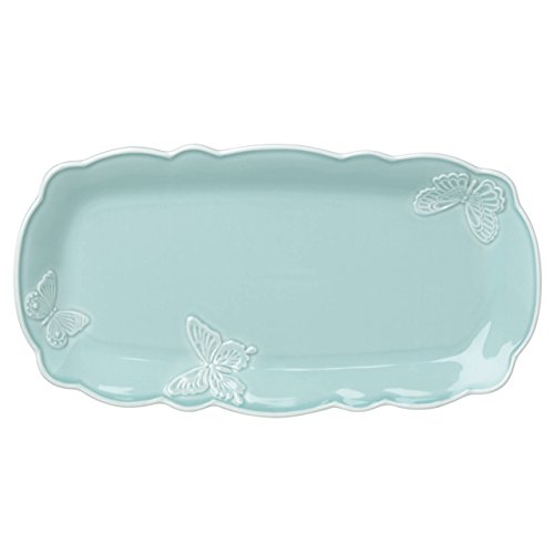 Lenox Butterfly Meadow Carved Blue Hors D 'Oeuvre Tray by Lenox