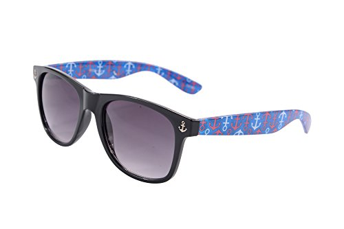 Wayfarer Sunglasses Classic 80's Vintage Frame Anchor Style Gradient (Sunglasses Anchor)