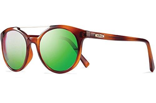 Revo Aston Sunglasses, Honey Horn Frame, Green Water 51mm Lenses, part of the Ladies - Green Honey Case