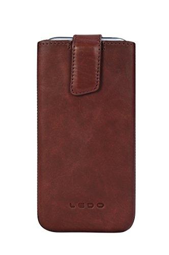 "LEDO CASE Premium Genuine Leather 'Pop-Up' Case ""Maple"" for the HTC ONE (M8) - Burgundy"