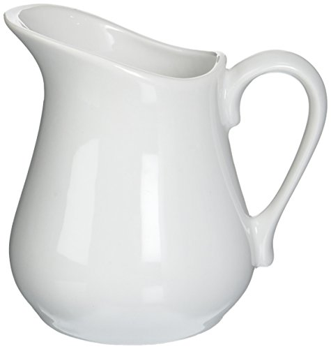 Bia Cordon Bleu Inc Bia Cordon Bleu Inc 900147 8 Oz White Porcelain Pitcher, White ()