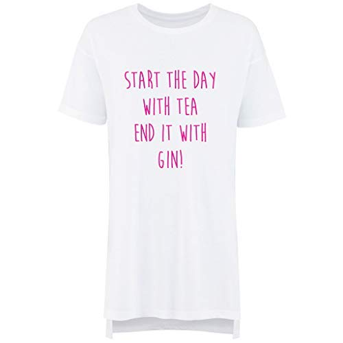 Thé Makeover Nuit Friend Start It Limited Pyjama Mères Slogan Blanc 60 Day Fête Second Des Gin Avec De End Nuisette Dames The Chemise t0q5tT1nw