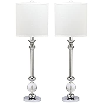 safavieh lighting collection erica crystal candlestick 31inch table lamp set of 2