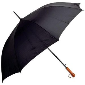 (All-Weather Elite Series 60 inch Black Auto Open Golf Umbrella)
