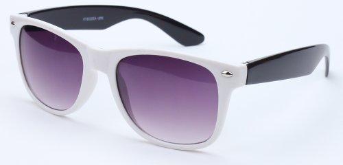 80's Classic Blue Brothers Wayfarer Styles Two Color Vintage Retro Sunglasses