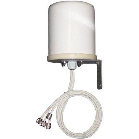 TerraWave 6 dBi MIMO Outdoor Omnidirectional Antenna, RPTNC Plug Connectors, 4 Ports (577629)