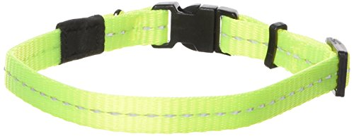 Reflective Dog Collar for Small Dogs, Adjustable from 8-13 inches, Yellow