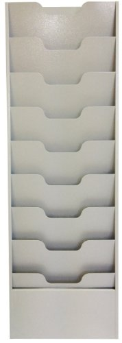 Buddy Products 9 Pocket Data Rack, Steel, 2 x 40 x 13.5 Inches, Platinum (0806-32) -