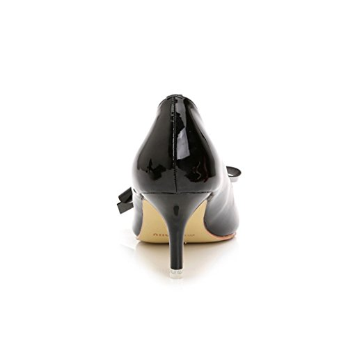 Doris ts Evening Fashion Wedding Women's Pumps Black Shoes Bowknot Heels High 889 94 gqrgd5xXw