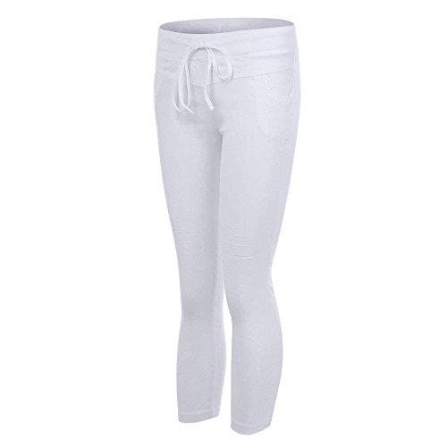 Elasticità Damigella High Eleganti Fashion Solidi Lannister Pantalone Denim Da Colori Pantaloni Skinny Pants Donna Libero Vintage Waist Strappato Tempo Bianco Jeans qtxawE