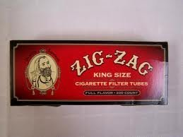 Zig Zag Full Flavor King Size Cigarette Tubes (200ct Per Box) 5 Boxes