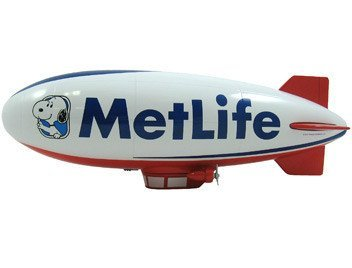 Liberty Classics MetLife ''Snoopy Two'' Die-Cast Blimp Bank Zeppelin Collectible