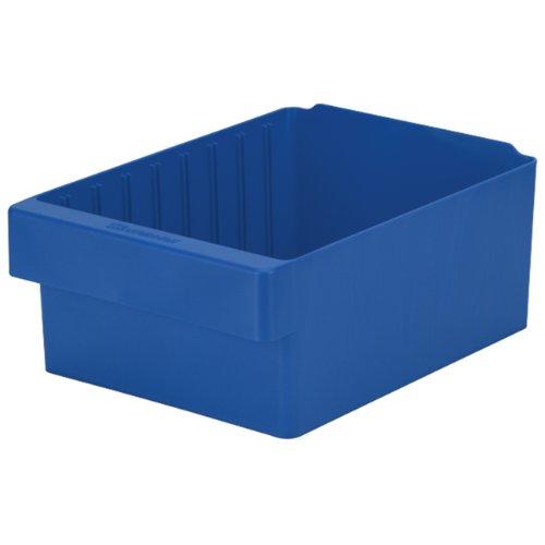 "Akro-Mils 31188 AkroDrawer Plastic Storage Drawer, 17-5/8"" L x 8-3/8"" W x 4-5/8"" H, Blue, Case of 4"